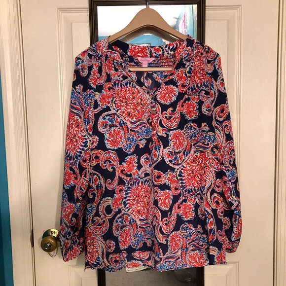 d4ca96e15a4ab1 Lilly Pulitzer Tops | Euc Elsa Top In For The Halibut Size Small ...